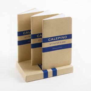 Etui de 3 carnets papier blanc - Calepino