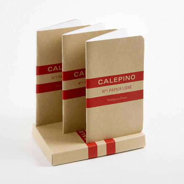 Etui de 3 carnets papier ligné - Calepino & Heureux comme un Prince