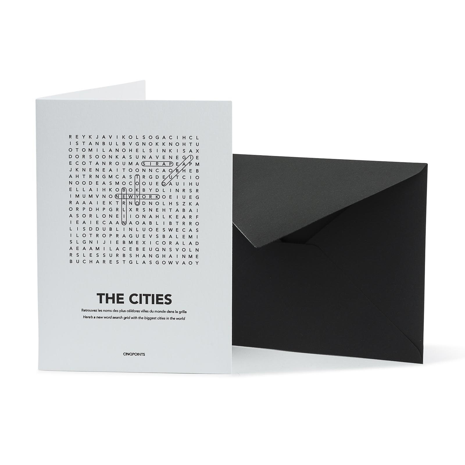 Carte CITIES FIND ME - Cinq Points & Heureux comme un Prince