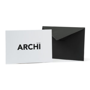 Carte YOU ARE ARCHI - Cinq Points & Heureux comme un Prince