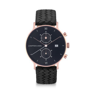 Montre chrono All Black Woven - Kapten & Son & Heureux comme un Prince