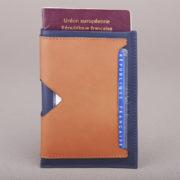 Etui passeport en cuir Nicolas - Valôme & Heureux comme un Prince