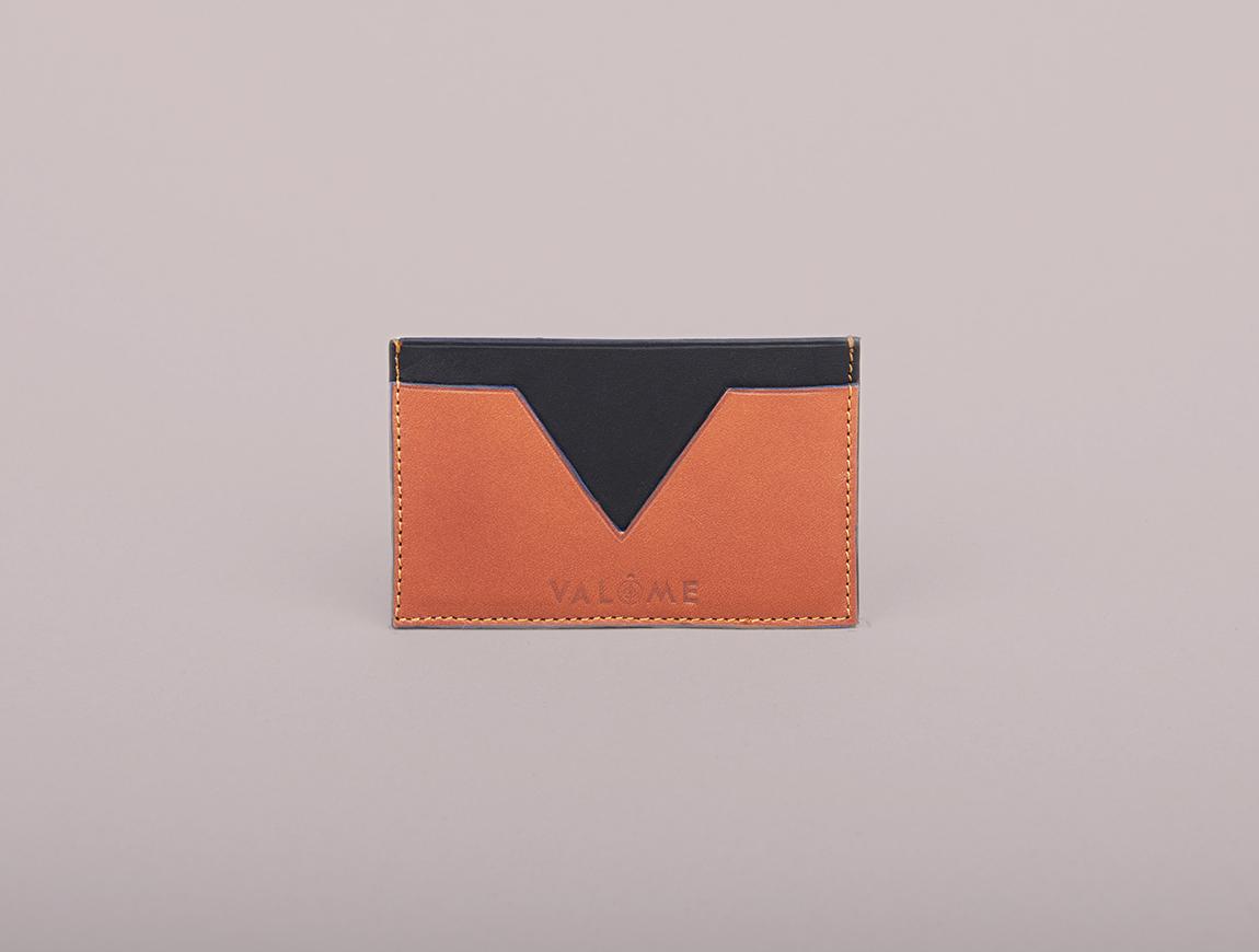 Porte-cartes en cuir Léon - Valôme & Heureux comme un Prince