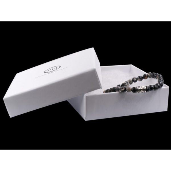 Bracelet agate noire & beige - Pierre Paul Jacques & Heureux comme un Prince