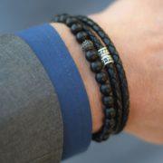 Bracelet homme en cuir - Pierre Paul Jacques & Heureux comme un Prince