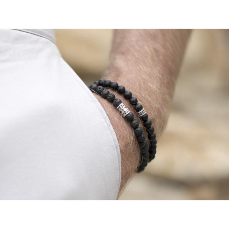 Bracelet onyx mat - Pierre Paul Jacques & Heureux comme un Prince