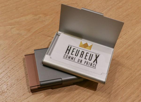 Porte-cartes de visite Lexon & Heureux comme un Prince