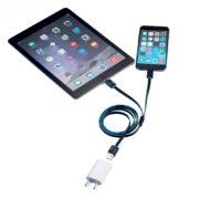 Câble chargeur USB double lightning Apple - Troika & Heureux comme un Prince