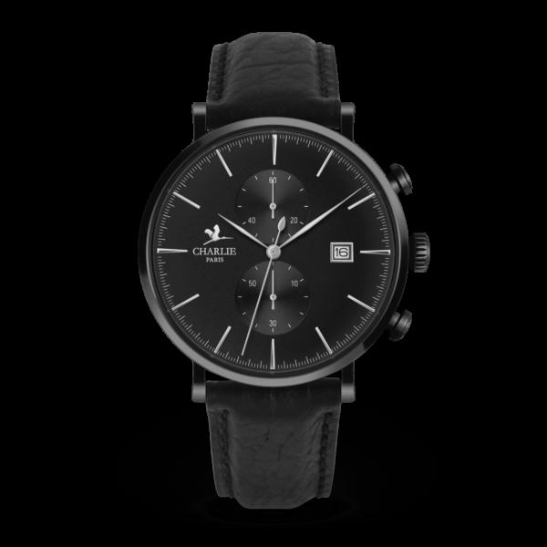Montre chronomètre full black - Charlie Paris & Heureux comme un Prince