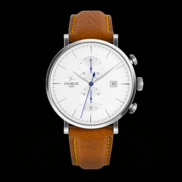 Montre chronomètre blanc - Charlie Paris & Heureux comme un Prince