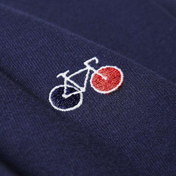 Sweat Basile bleu broderie vélo - La Gentle Factory & Heureux comme un Prince