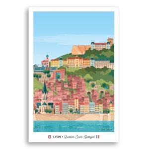 Carte postale Saint-Georges - Les éditions du Lyonnais & Heureux comme un Prince