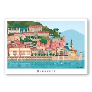 Carte postale Vieux Lyon - Les éditions du Lyonnais & Heureux comme un Prince