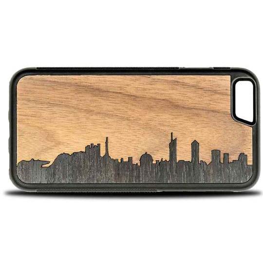 Coque iPhone Lyon - Coque en bois & Heureux comme un Prince
