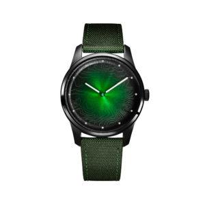 Montre à mouvement solaire Green Witch - Awake & Heureux comme un Prince