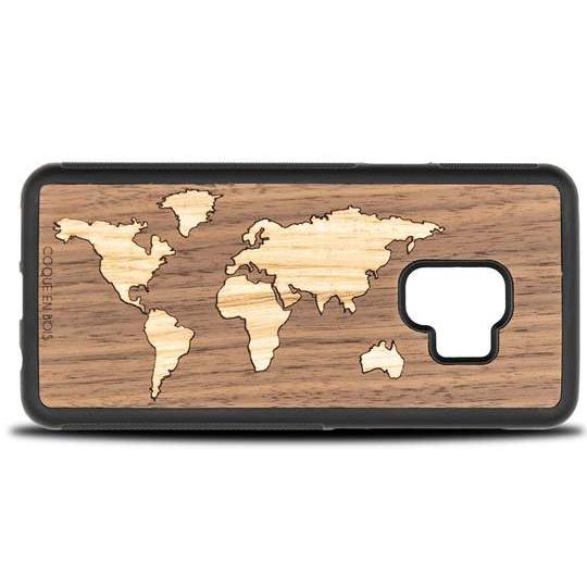 Coque Samsung Map monde - Coque en bois & Heureux comme un Prince