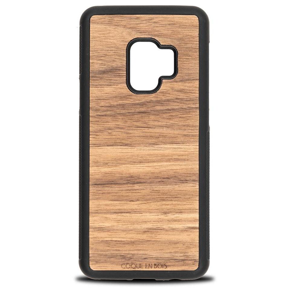Coque Samsung en noyer - Coque en bois & Heureux comme un Prince