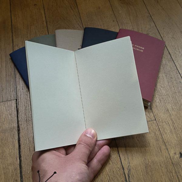 Carnet 9x14 cm pages blanches - Le Typographe & Heureux comme un Prince