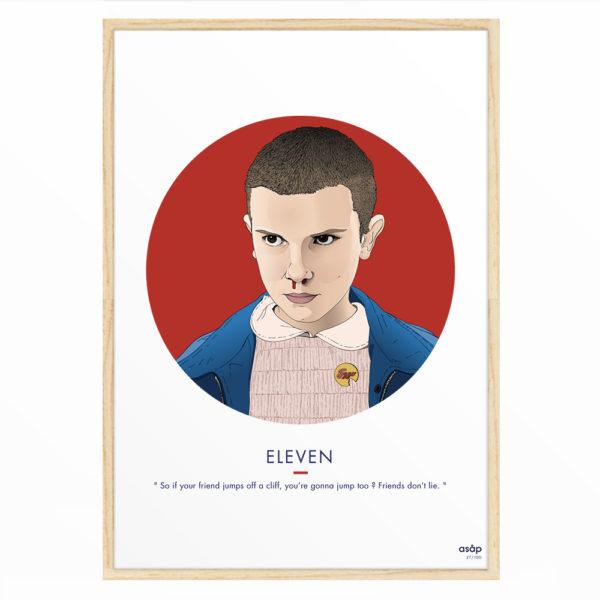 Affiche Eleven (Stranger Things) - ASAP & Heureux comme un Prince