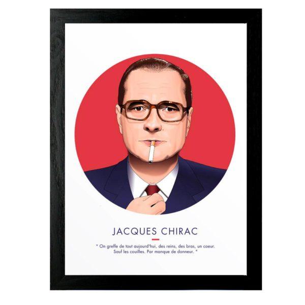 Affiche Jacques Chirac 30x40 - ASAP & Heureux comme un Prince