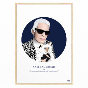 Affiche Karl Lagerfeld 30x40 - ASAP & Heureux comme un Prince