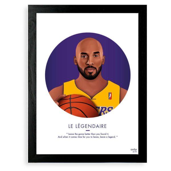Affiche Kobe Bryant - ASAP & Heureux comme un Prince