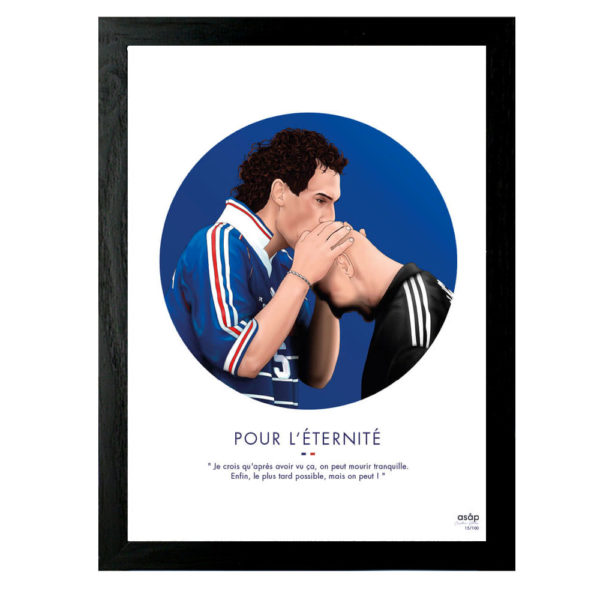 Affiche Blanc Barthez Pour l'Eternité ASAP & Heureux comme un Prince