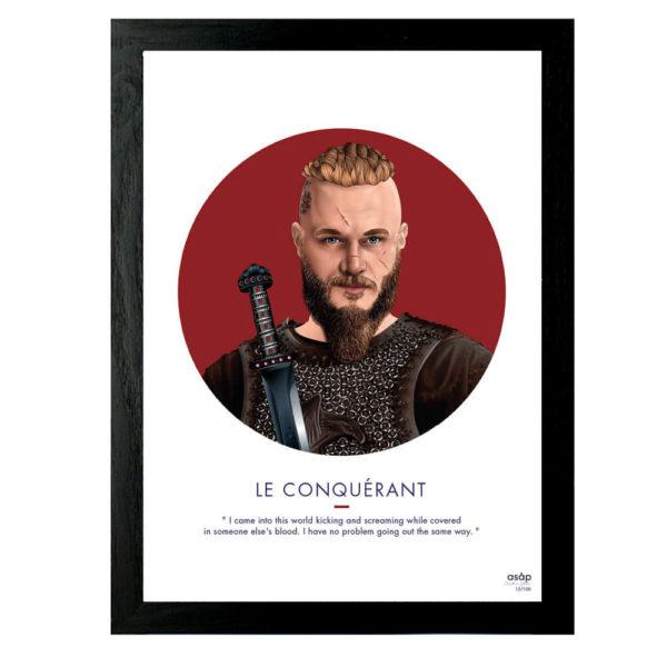Affiche Ragnar Lothbrok Vikings - ASAP Heureux comme un Prince