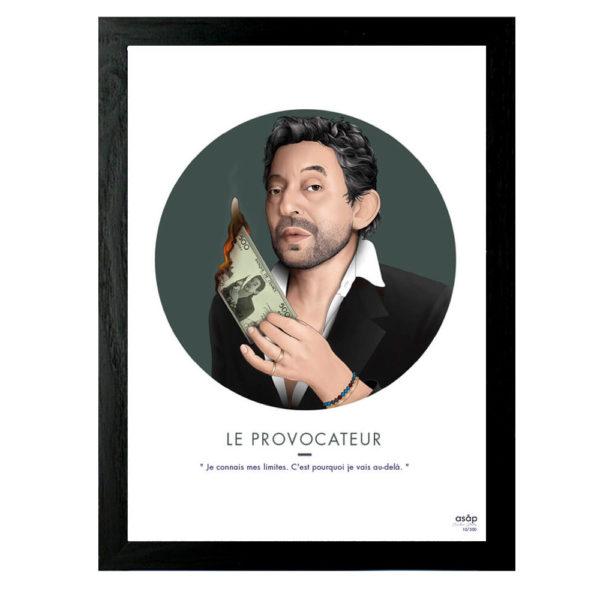 """Affiche Serge Gainsbourg """"Le Provocateur"""" - ASAP & Heureux comme un Prince"""