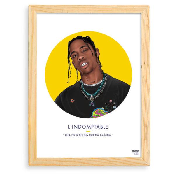 Affiche Travis Scott L'indomptable - ASAP & Heureux comme un Prince