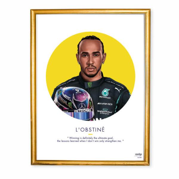 Affiche Lewis Hamilton ASAP & Heureux comme un Prince