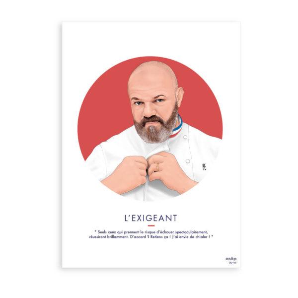 Affiche Philippe Etchebest l'exigeant - ASAP Creative Studio & Heureux comme un Prince