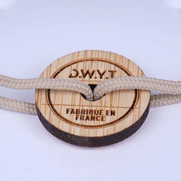 Bracelet en bambou l'explorateur - DWYT Lyon & Heureux comme un Prince