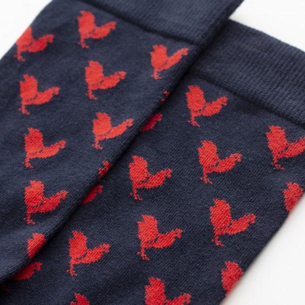 chaussettes coton bio coq Gentle Factory & Heureux comme un Prince