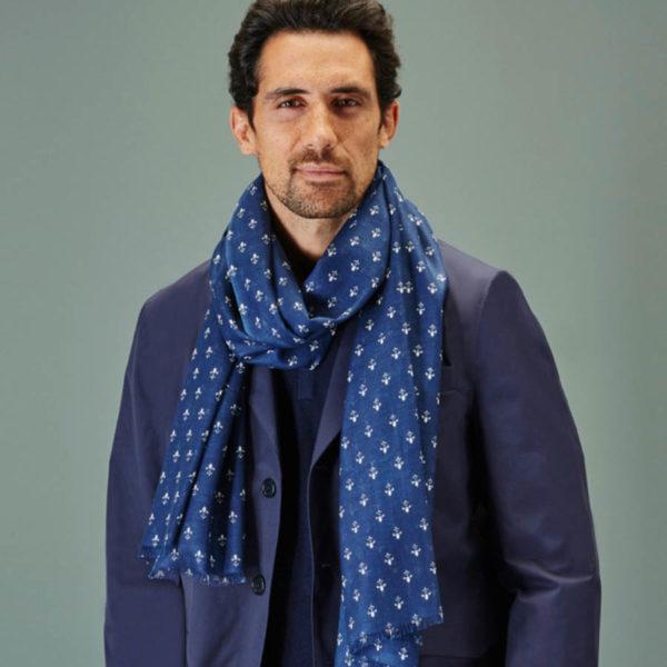 Chèche en coton biologique fleur de lys - AV08 Paris & Heureux comme un Prince