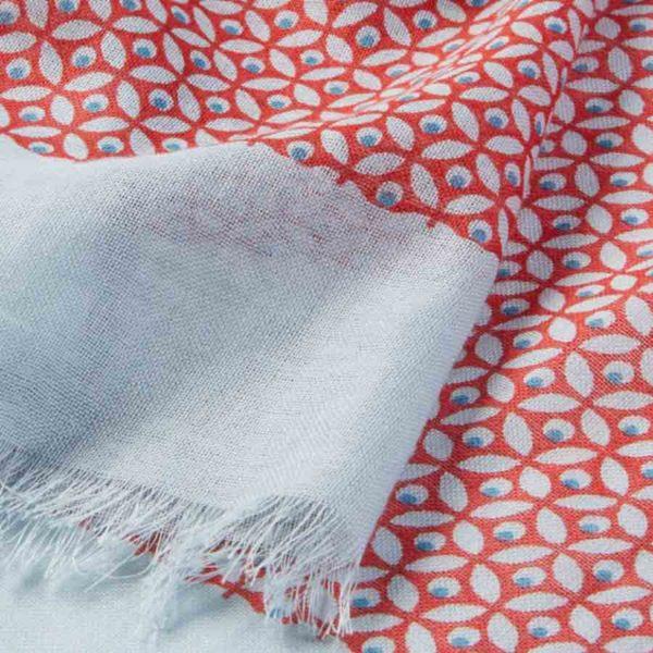 Chèche en coton biologique motif rouge - AV08 Paris & Heureux comme un Prince