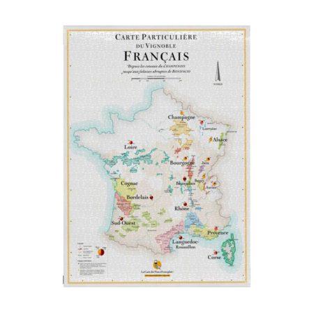 Puzzle carte des vins de France - Heureux comme un Prince