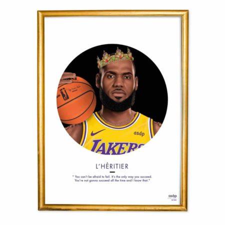Affiche Lebron James L'Héritier ASAP Lyon & Heureux comme un Prince
