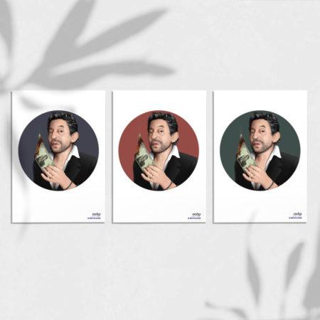 gainsbourg-artprint-A5 asap heureux comme un prince