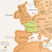 Carte du monde à gratter scratch map Luckies - Heureux comme un Prince