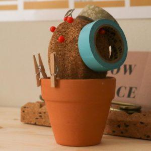 Pot cactus en liège Suck UK - Heureux comme un Prince